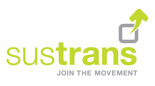 Sustrans logo. Join the movement.